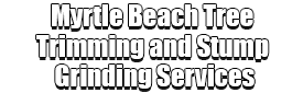 Myrtle Beach Tree Trimming and Stump Grinding Services Logo-We Offer Tree Trimming Services, Tree Removal, Tree Pruning, Tree Cutting, Residential and Commercial Tree Trimming Services, Storm Damage, Emergency Tree Removal, Land Clearing, Tree Companies, Tree Care Service, Stump Grinding, and we're the Best Tree Trimming Company Near You Guaranteed!